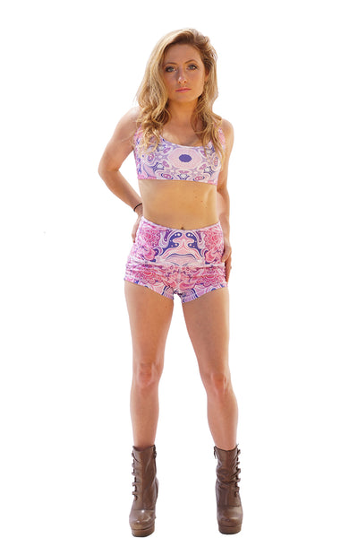 Dye Sub High Waisted Shorts