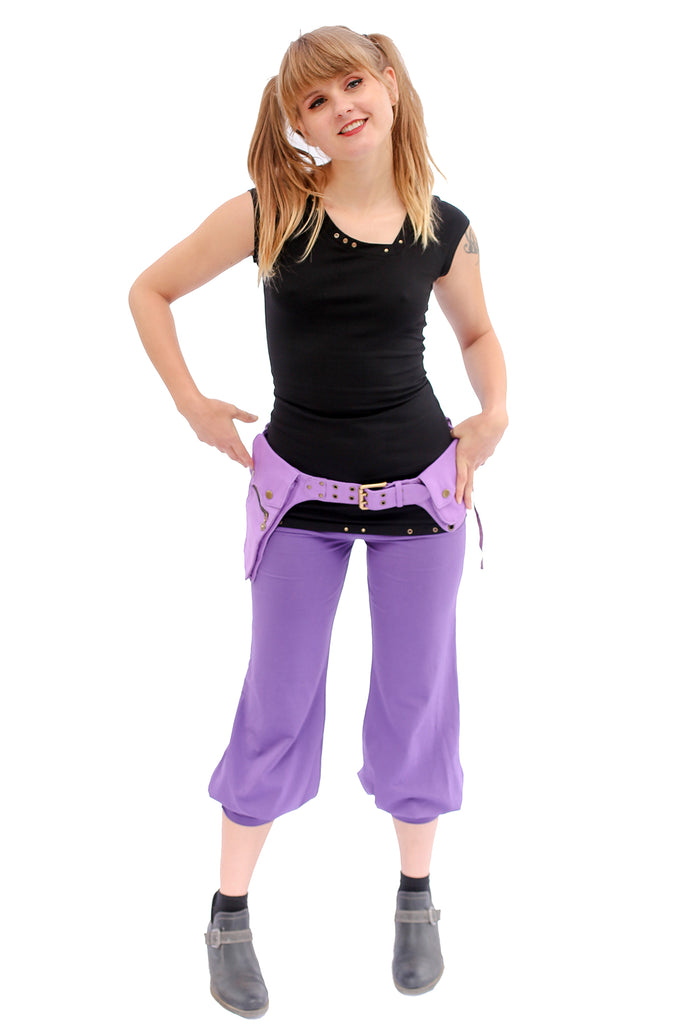 Asymmetrical Pocket Belt Lavender