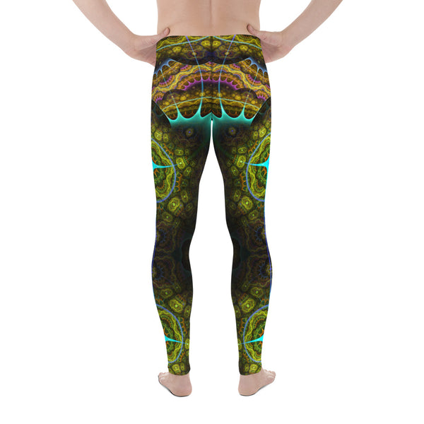 Mens Astrolabe Aqua Leggings