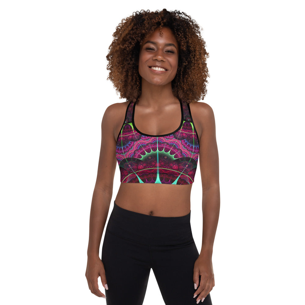 Astrolabe Padded Sports Bra Fire Agate