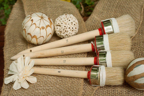 HQ Pure Bristle Round Paint & Wax Brushes - Collette's Cottage
