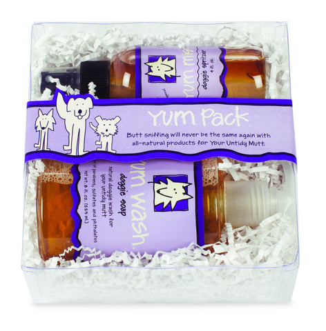 Y.U.M. Doggie Gift Set - YUM Wash Doggie Soap and YUM Mist Doggie Spritzer - Collette's Cottage