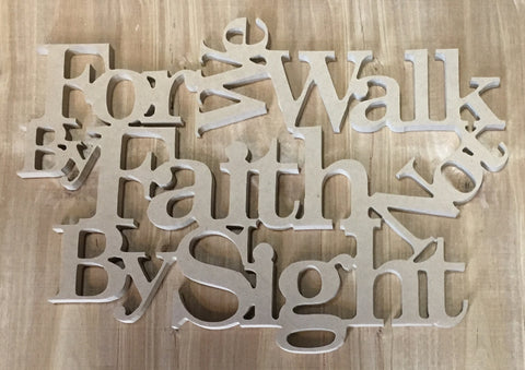 "Unfinished Faith Cutout - 9""x12""x3/8"""