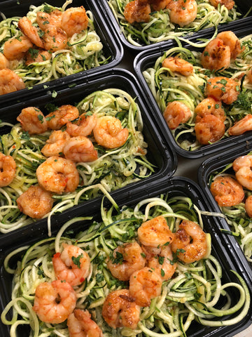 CHILI LIME SHRIMP OVER ZUCCHINI NOODLES