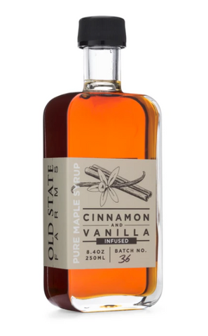 OLD STATE FARMS - CINNAMON & VANILLA INFUSED MAPLE SYRUP