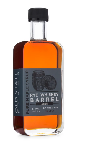 OLD STATE FARMS - RYE WHISKEY BARREL INFUSED MAPLE SYRUP