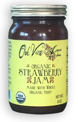OAK VIEW ACRES ORGANIC STRAWBERRY JAM - 8 OZ