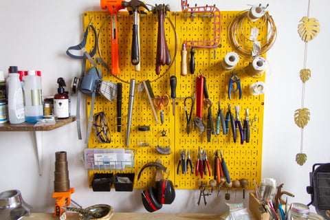 Dea Dia Jewelry Studio with Tools in Downtown Los Angeles