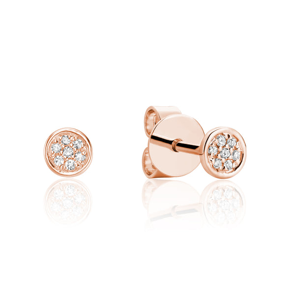 Petite Pave Circle Diamond Studs