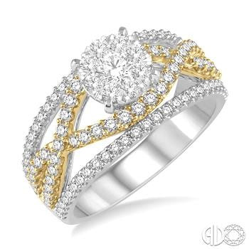 Lovebright Split Shank Diamond Ring