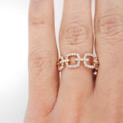 Chain Linked Diamond Ring