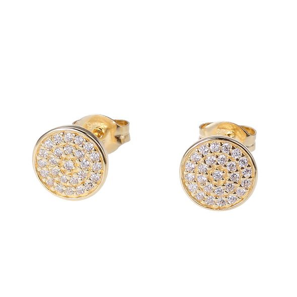CZ Micropave Dot Earrings
