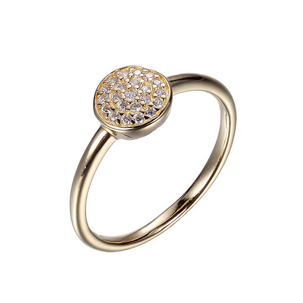 CZ Micropave Dot Ring