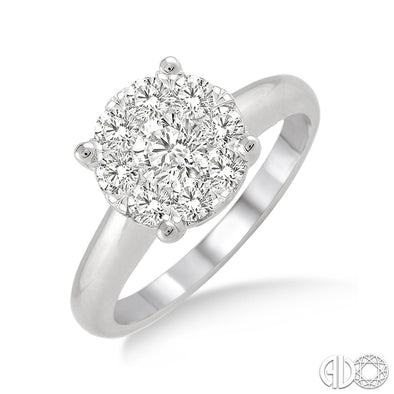 Lovebright Solitaire Round Diamond Ring