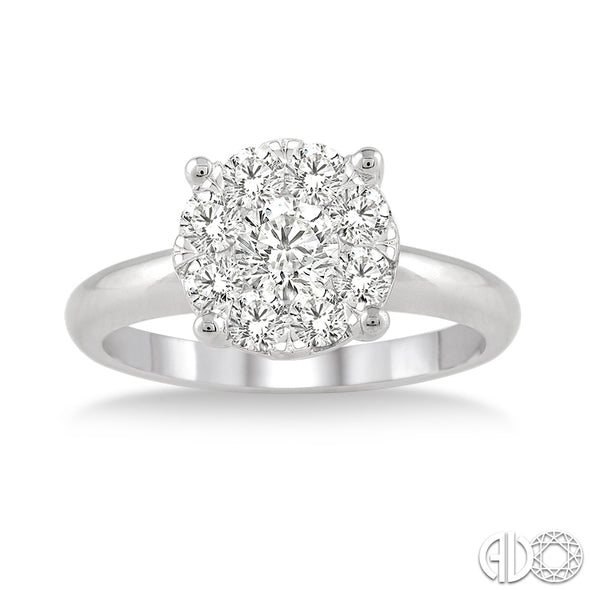 Lovebright Solitaire .5 CT Round Diamond Ring