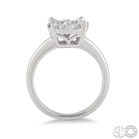 Lovebright Solitaire .35 CT Round Diamond Ring