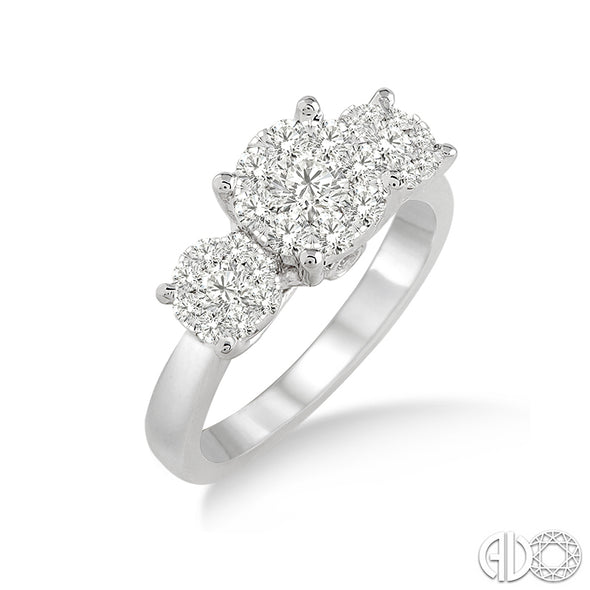 Lovebright Past Present Future Round Diamond Ring