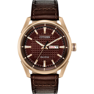 Drive Eco-Drive Brown and Rose Watch