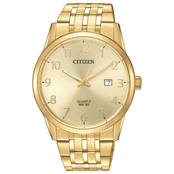 Gents Yellow Gold Tone Quartz Watch