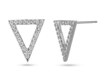 Inverted Triangle Diamond Earrings