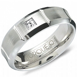 Torque Cobalt and Diamond Wedding Band