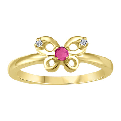 Butterfly Pink Topaz Ring