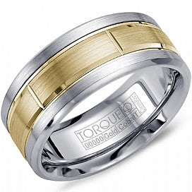 Torque Cobalt & 10kt Yellow Gold Men's Wedding Band