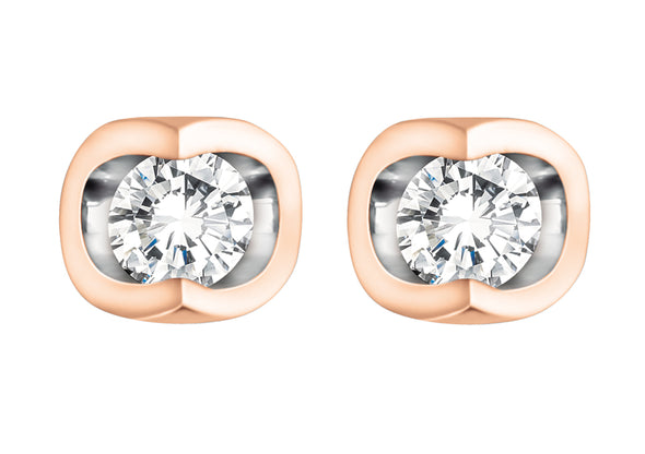 Luna Studs - Diamond
