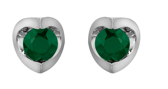 Luna Studs with Emerald