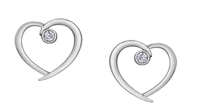Classic Diamond Heart Earrings