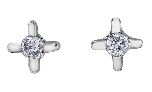 Star Burst Diamond Earrings