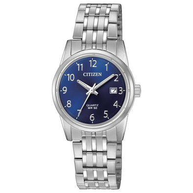 Ladies Silver And Blue Quartz Watch