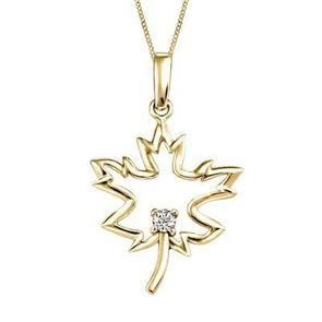 Maple Leaf Canadian Diamond Pendant