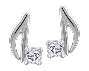 Musical Note Diamond Earrings