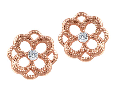 Canadian Diamond Flower Earrings