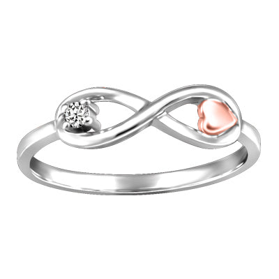 Infinity & Heart Canadian Diamond Ring