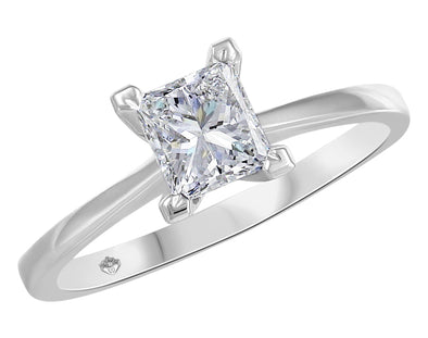 Princess Solitaire Diamond Ring