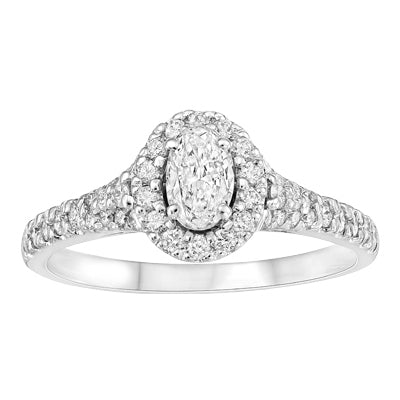 Oval Halo Canadian Diamond Ring