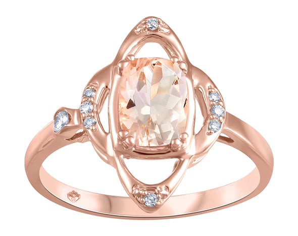 Morganite Floral Ring