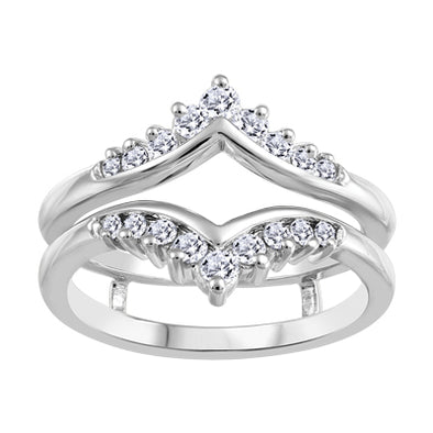 Jacketed Diamond Tiara Wedding Band