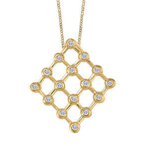 Diamond Lattice Yellow Gold