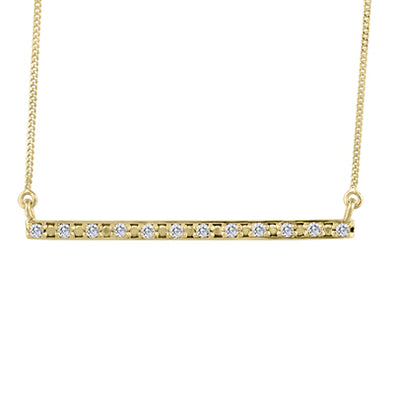 Diamond Bar Yellow Gold