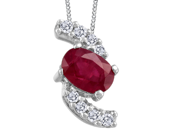 Bypass Ruby and Diamond Pendant