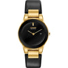 Axiom Eco-Drive Black and Gold Watch