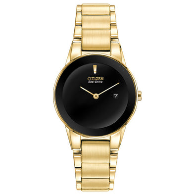 Axiom Eco-Drive Gold Ladies Watch