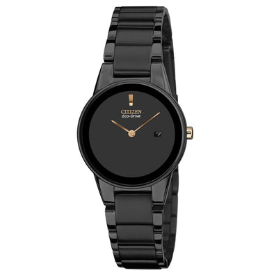 Axiom Black & Rose Eco-Drive Watch