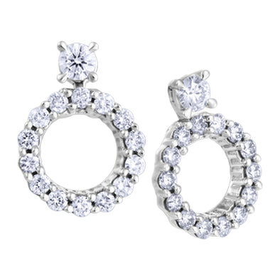 Convertible Journey Diamond Earrings with Jackets