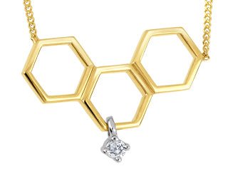 Diamond Triple Honeycomb Pendant