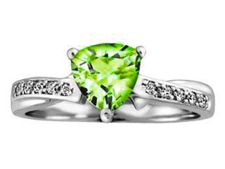 Peridot Diamond Twist Ring