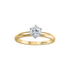 Six Claw Classic Solitaire Canadian Diamond Ring